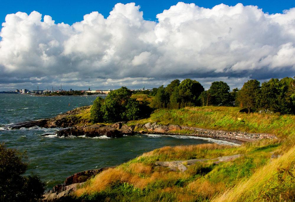 Suomenlinna Bay - Helsinki in the distance