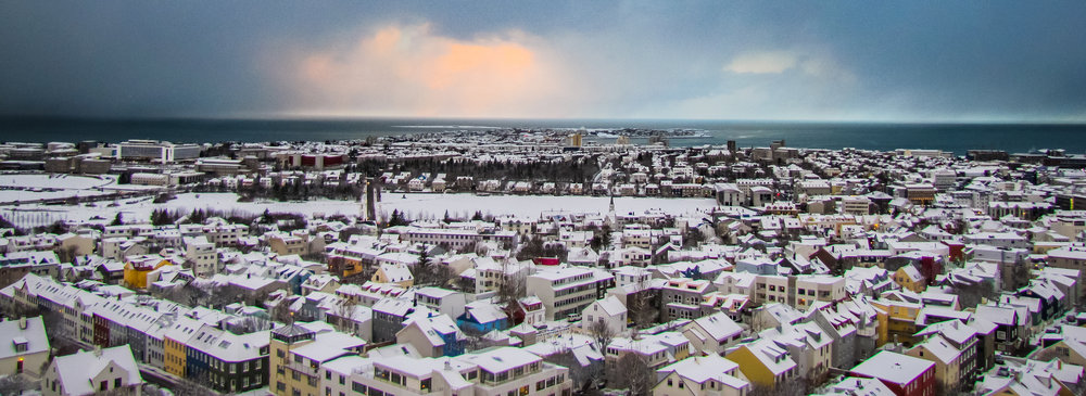 Reykjavik before a snowstorm