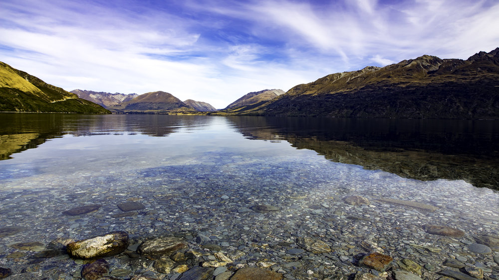 Lake Wakatipu, looking south to Queenstown
