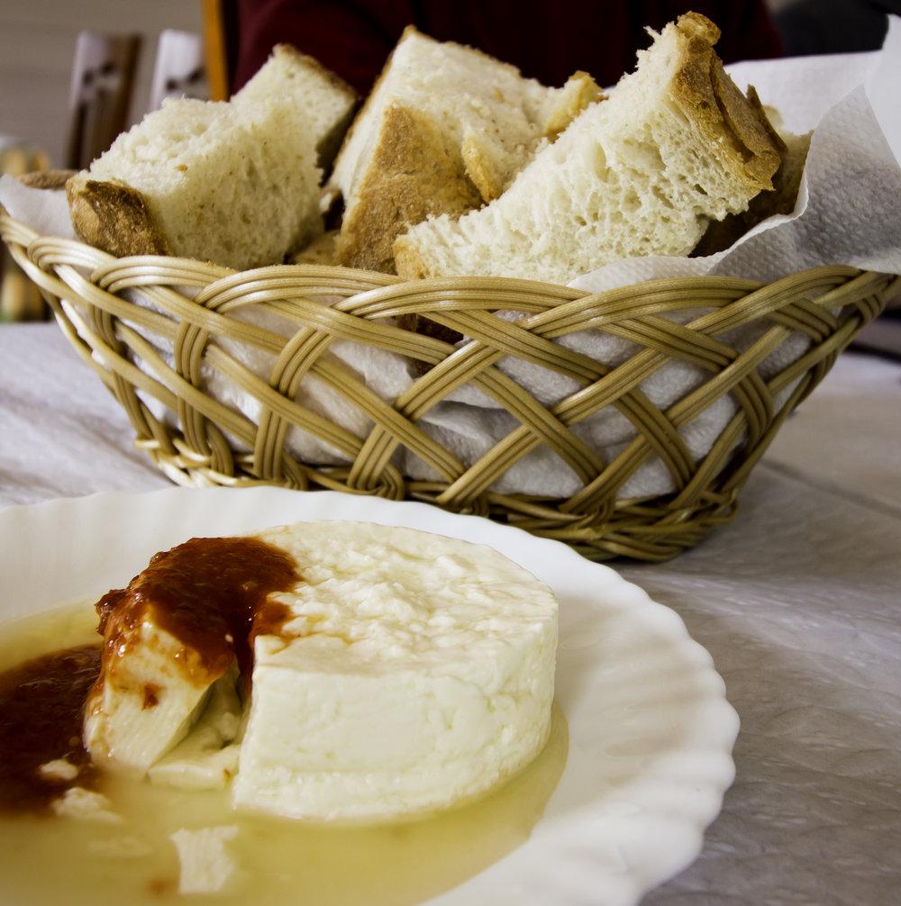 Bread and Sao Jorge cheese