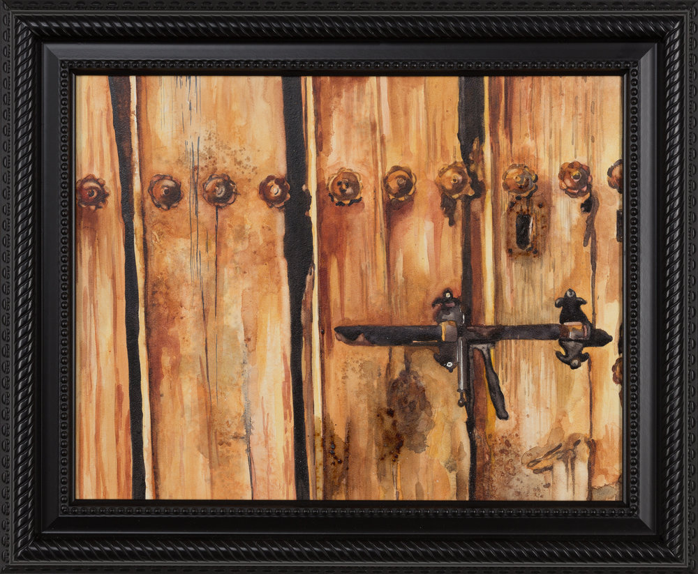 Old Barn Door  9 X 12 ""