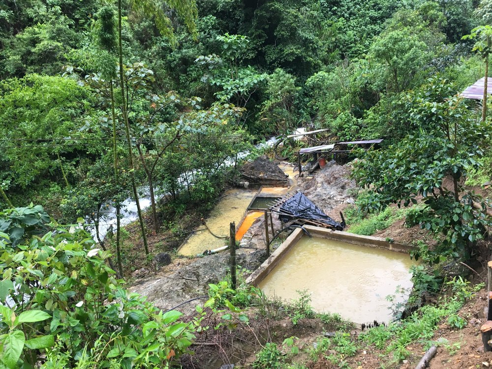 Overview of the mercury contaminated area adjacent to the Honda River, Colombia. Photo: Christina T. Miller, 2018