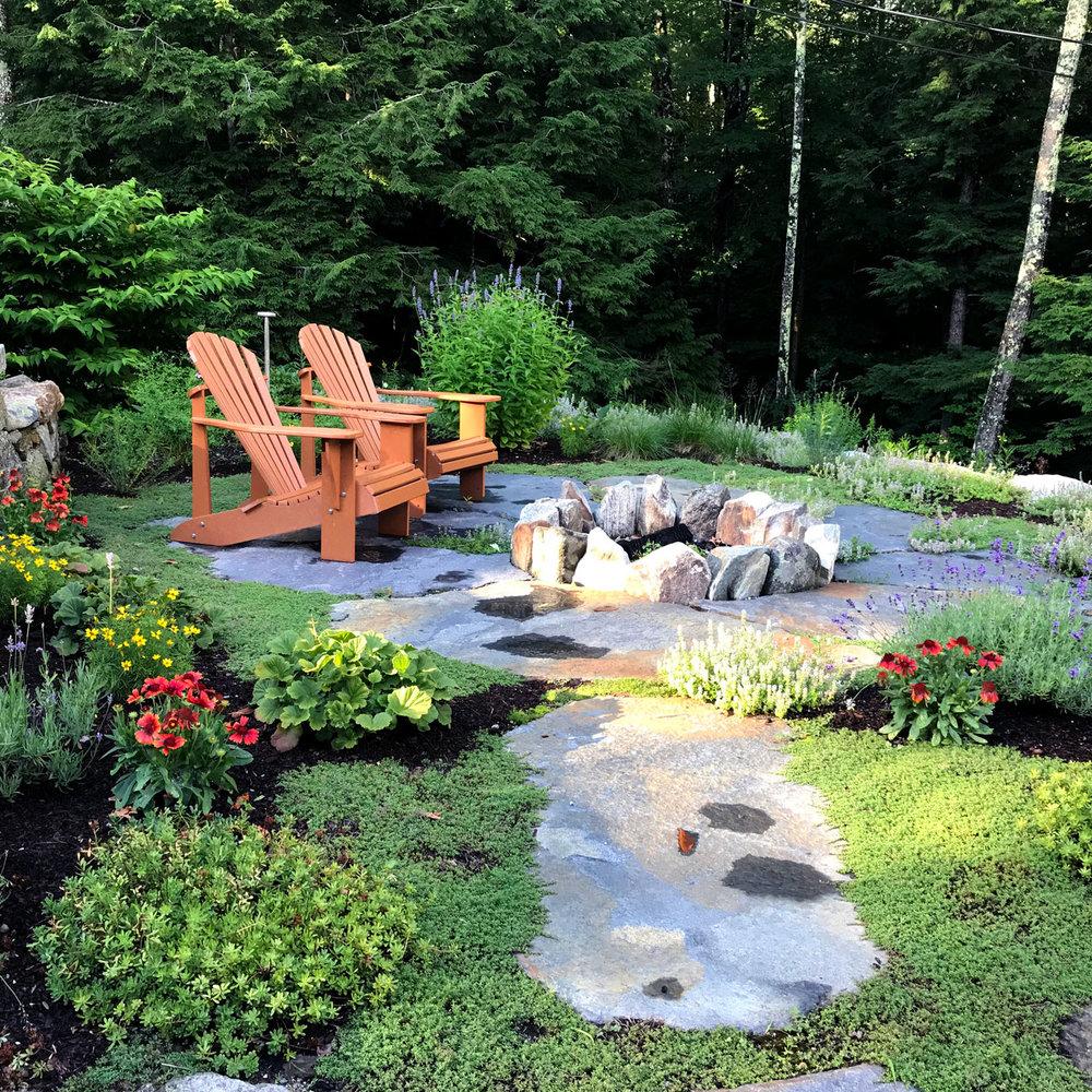 Cunningham Pond lakeside patio garden design