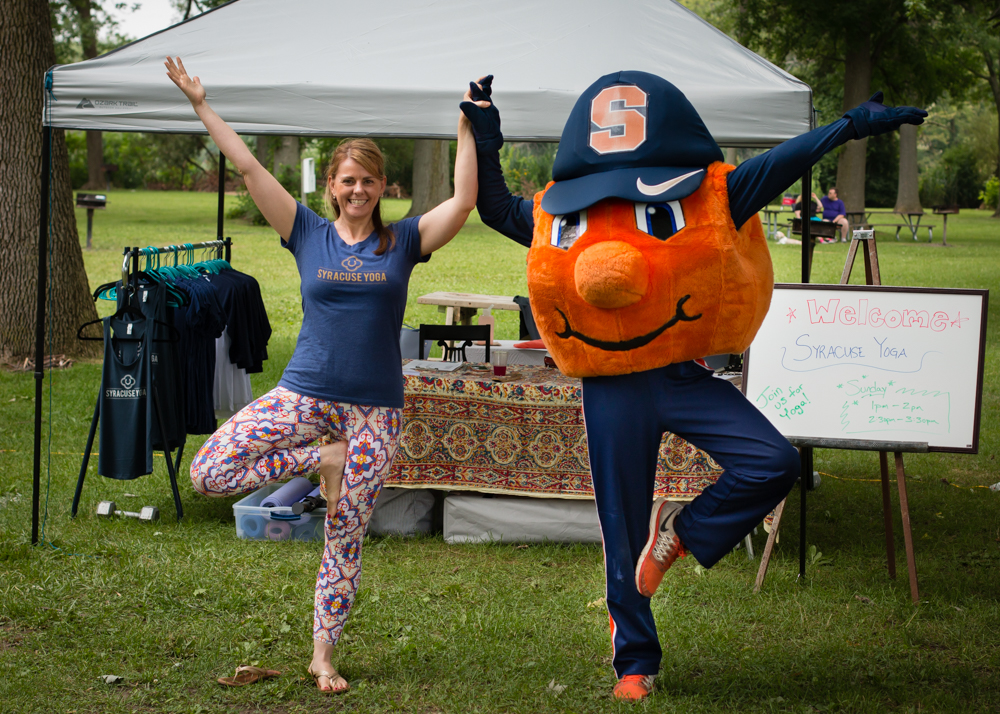 Otto the Orange stopped by for some Yoga too!  Yoga for every Orange!