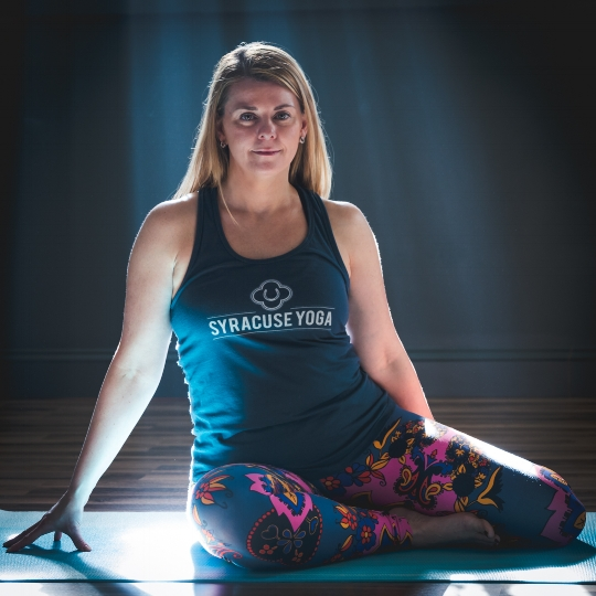 Sophie Tashkovski offers custom one on one Yoga classes at Syracuse Yoga.
