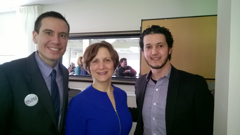 Congresswoman Suzanne Bonamici and current Board Director of Zone 6, Mohamed Alyajouri,