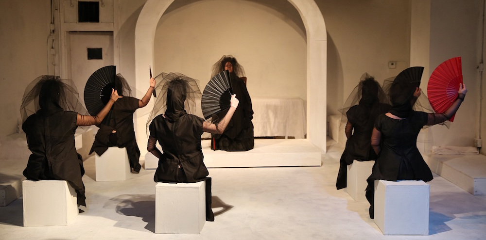 Performance still from  The House of Bernarda Alba , directed by Marcela Muñoz, at Aguijón Theater
