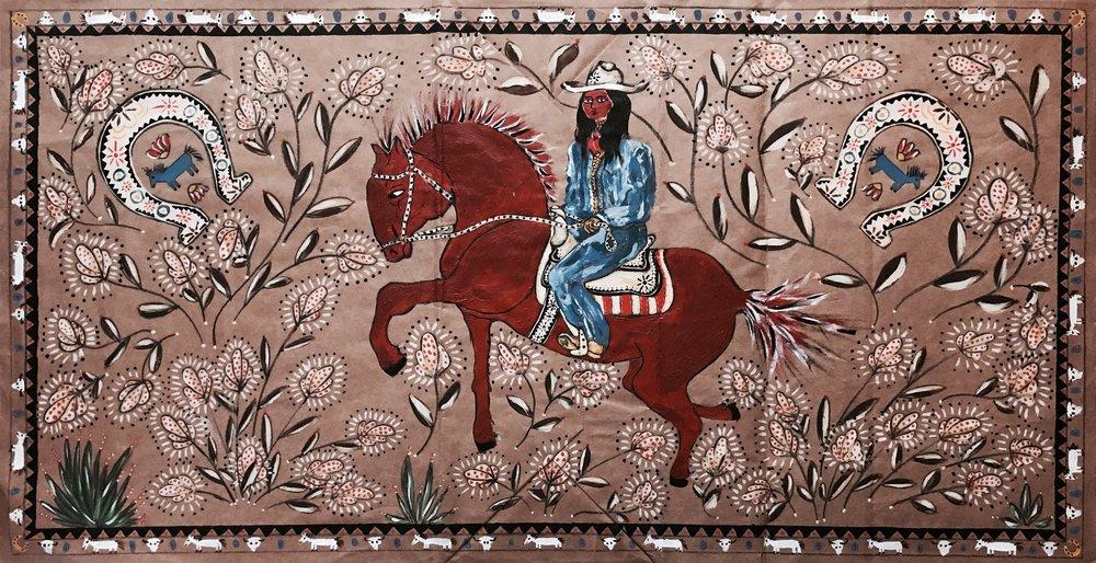Cowgirl Folk Art