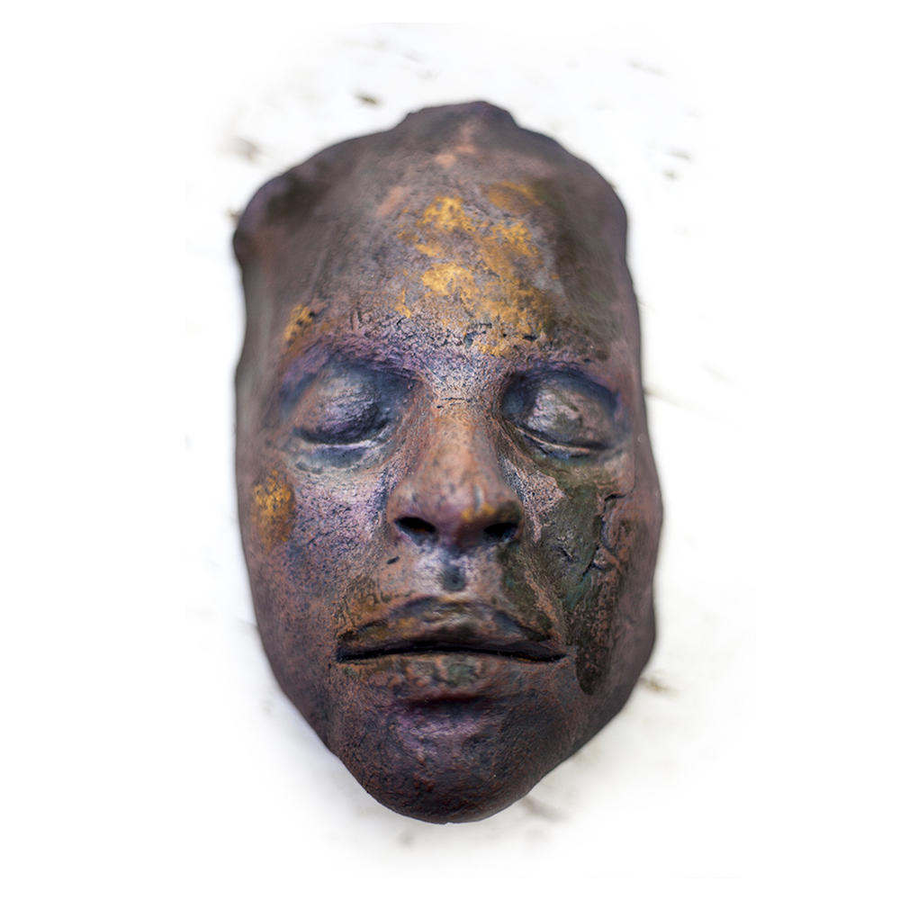 Nikesha Breeze, 2018 ,108 Death Masks: A communal prayer for peace and justice, individual ceramic death mask. Photo courtesy of the artist.