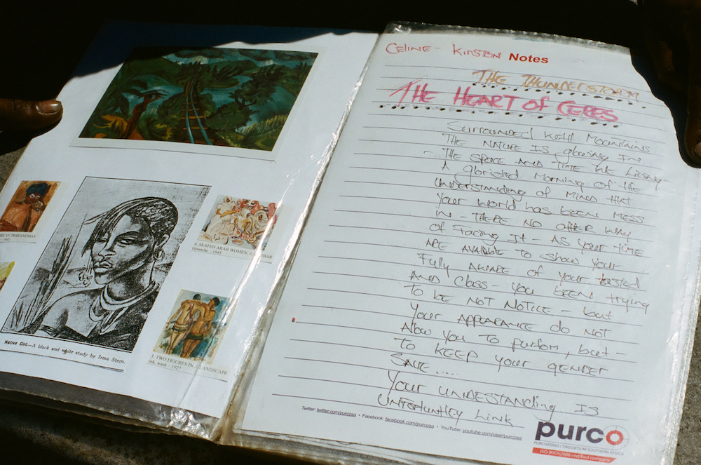 A page from Celine's scrapbook contains an original poem, written on a recent visit home to her family in Ceres.