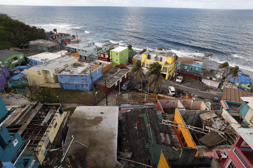 The view from el Centro de Apoyo Mutuo in La Perla, a barrio of San Juan, Puerto Rico.
