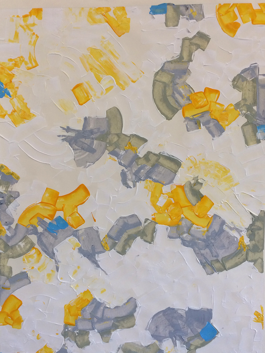 Abstract American Ancestors (2015) 33 x 42 Acrylic on Paper