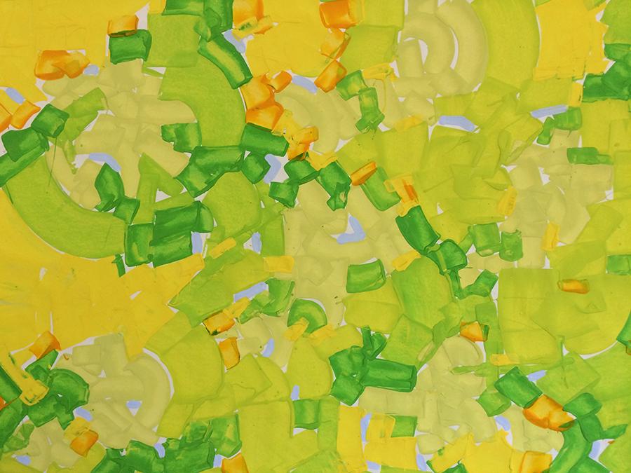 Impression-Nice (2015) Acrylic on Paper 36 x 32