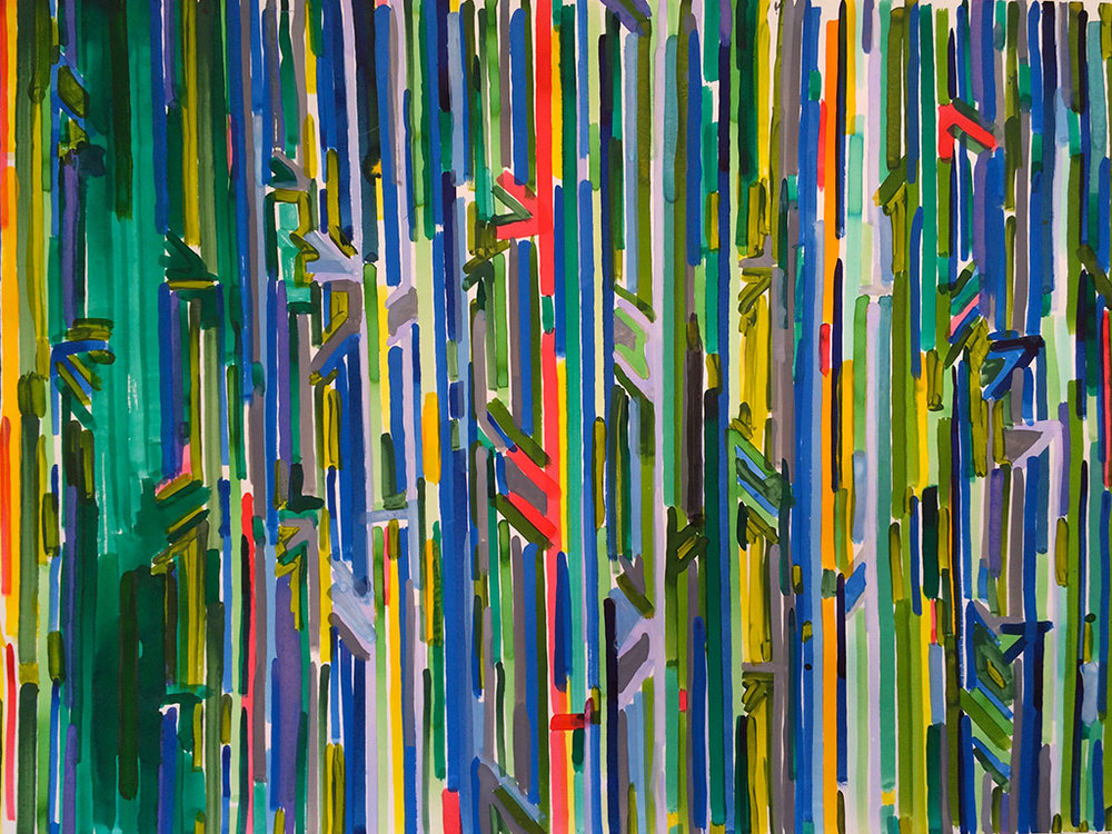 Index of Color 2010 Ink on Paper 40 x 26