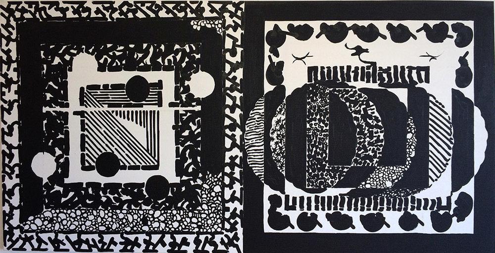 Basic Black III (2000) Acrylic on Canvas 48 x 24