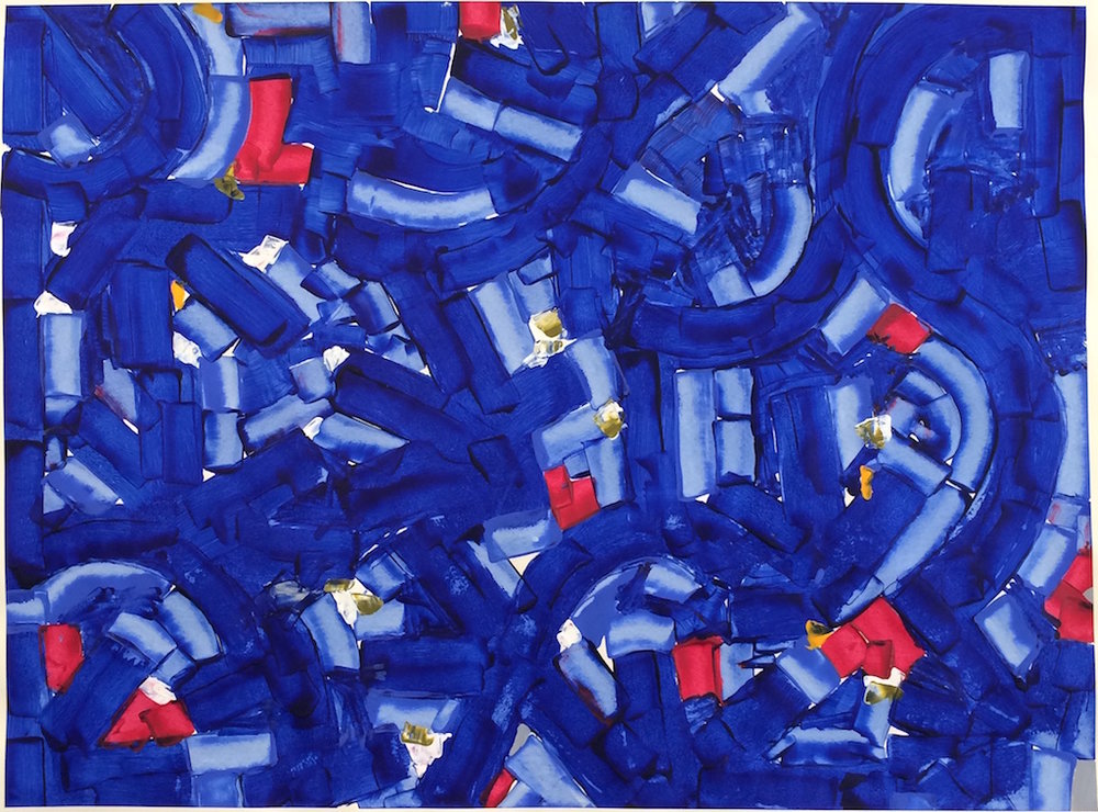 Touch of the Blues (2017) Acrylic, 42in. x 32in.