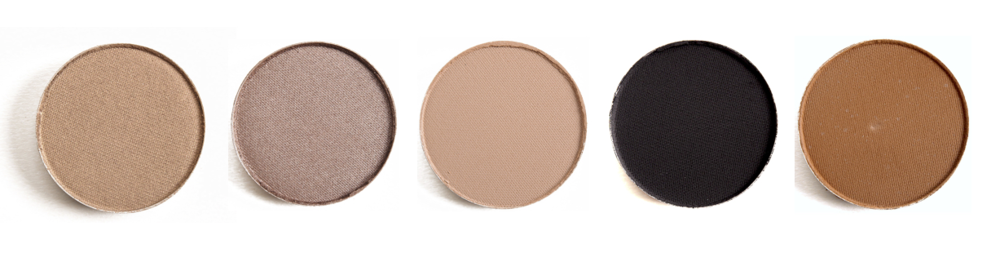 Patina, Satin Taupe, Wedge, Carbon y Espresso de MAC