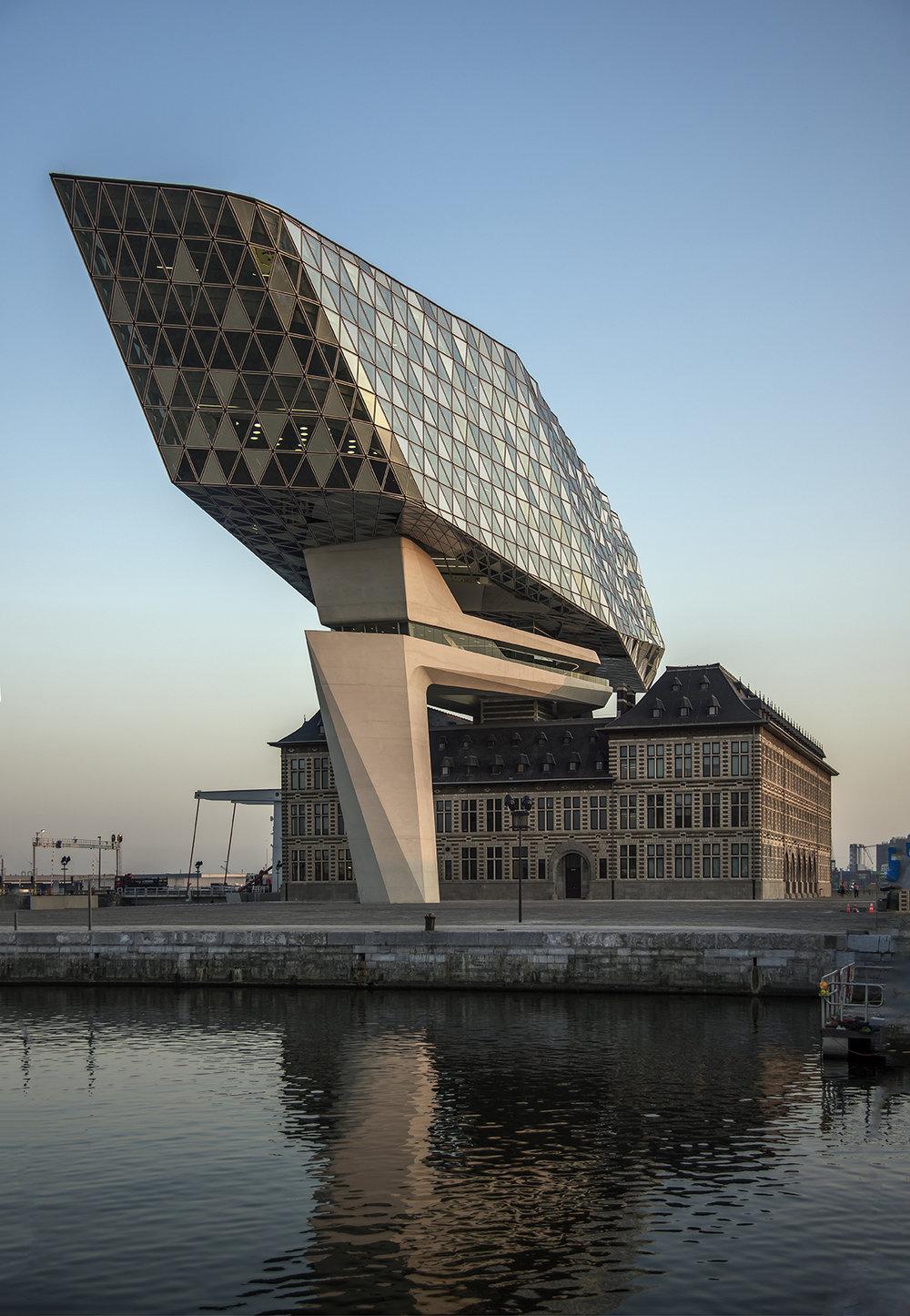 Exterior Morning Antwerp Port House