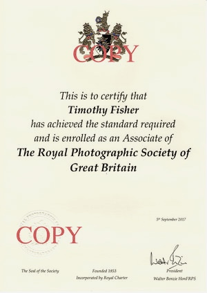 Associate member Of The Royal Photographic Society.