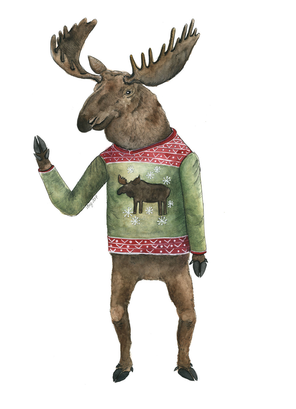 Merry Christmoose.