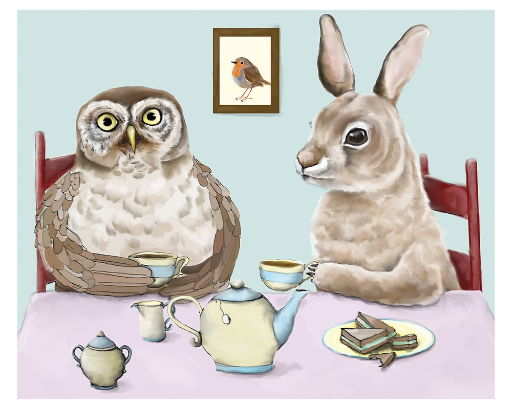 Tea Time with Owl and Rabbit