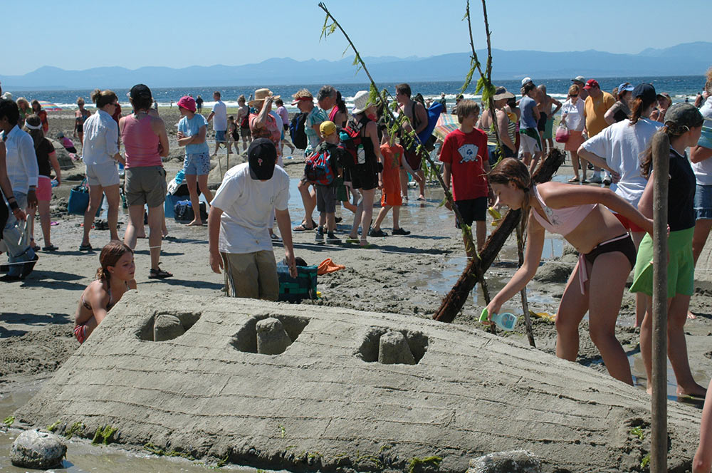 annual davis bay sandcastle competition (july)  photo bigpacific.com