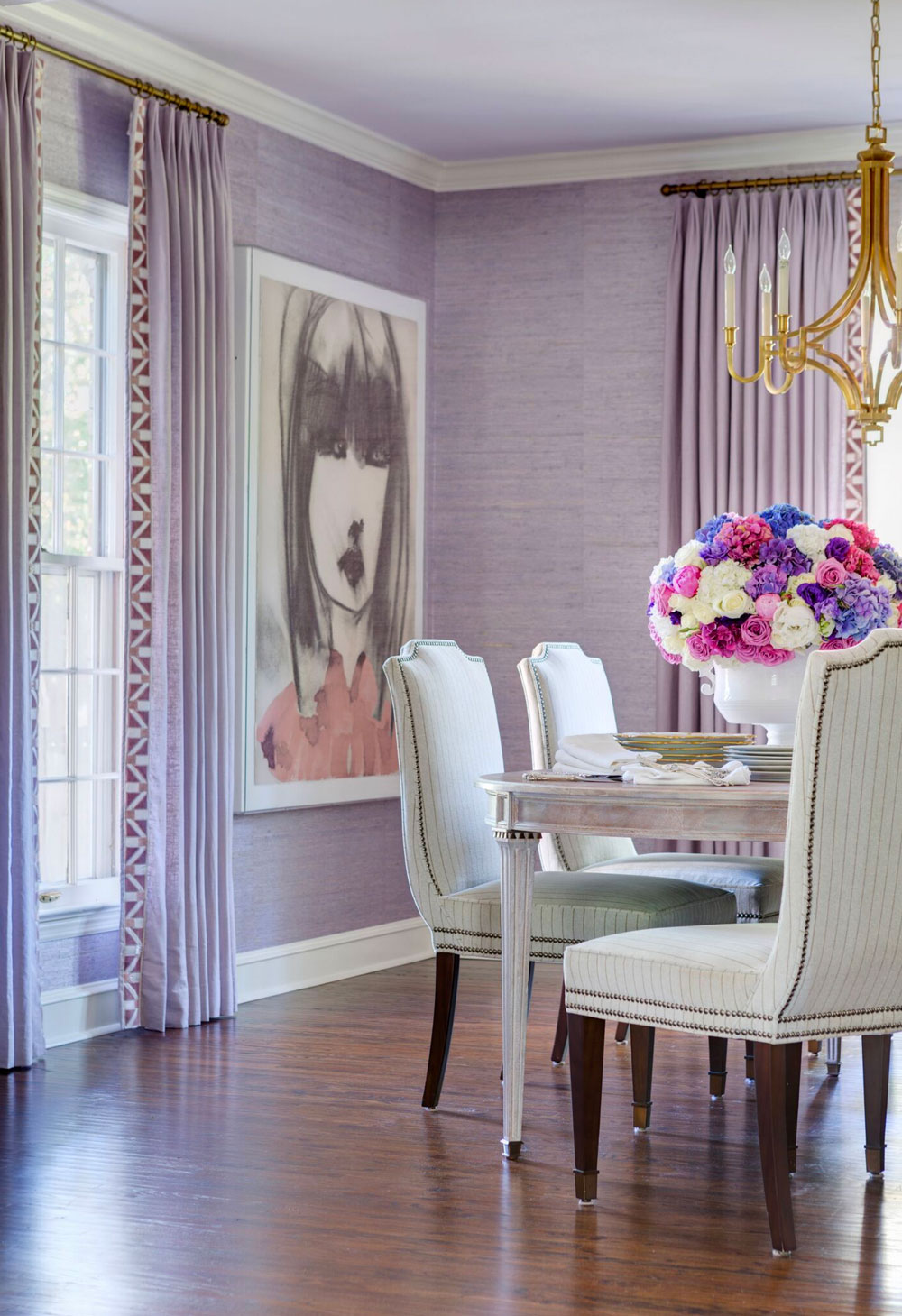 Molly-Ray-Young-Interior-Design-Little-Rock-Arkansas-Dining-Room-Purple-Rett-Peek.jpg