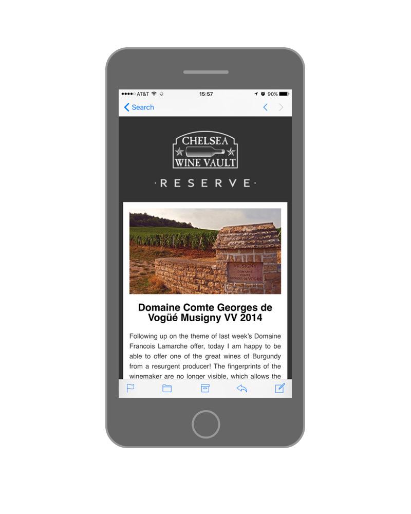 Chelsea Wine Vault   Email Marketing — Elyas Beria