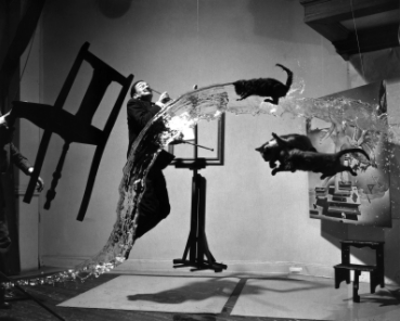 Channelling Dali and his  surrealist flying cat troupe of 1948