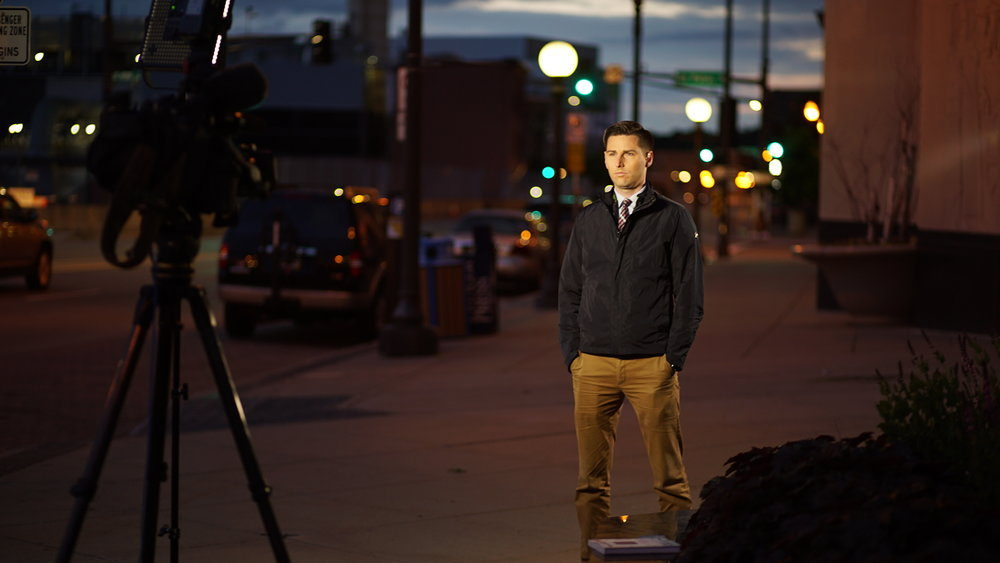 Haller Kwan LLP Partner Ted Haller on assignment during his days as a reporter for KMSP-TV in the Twin Cities.