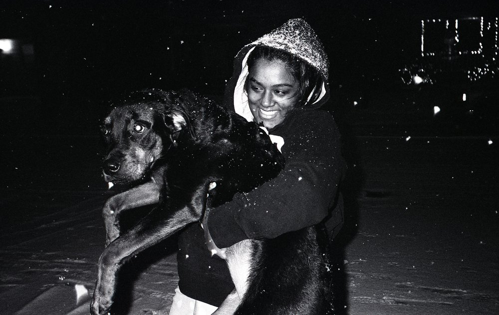 girl and dog, cleveland, oh