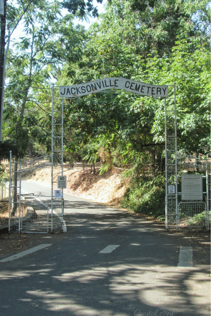 This is the entrance to the cemetery.  Jacksonville Cemetery, Oregon