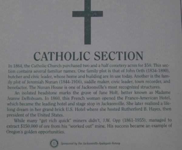 Story behind the Catholic Section