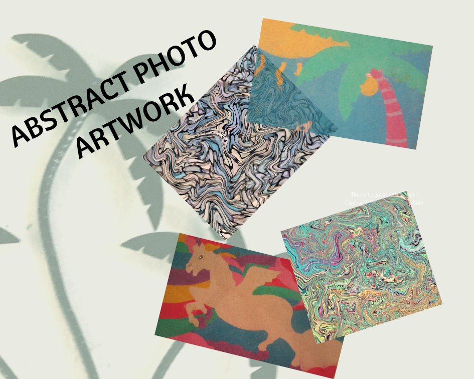In each abstract photo artwork prints I created each from the photos of my daughters sand art. I however, designed each step along the way to make the results worthy of the time I spent on them.