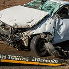 Photo: Wrecked car.
