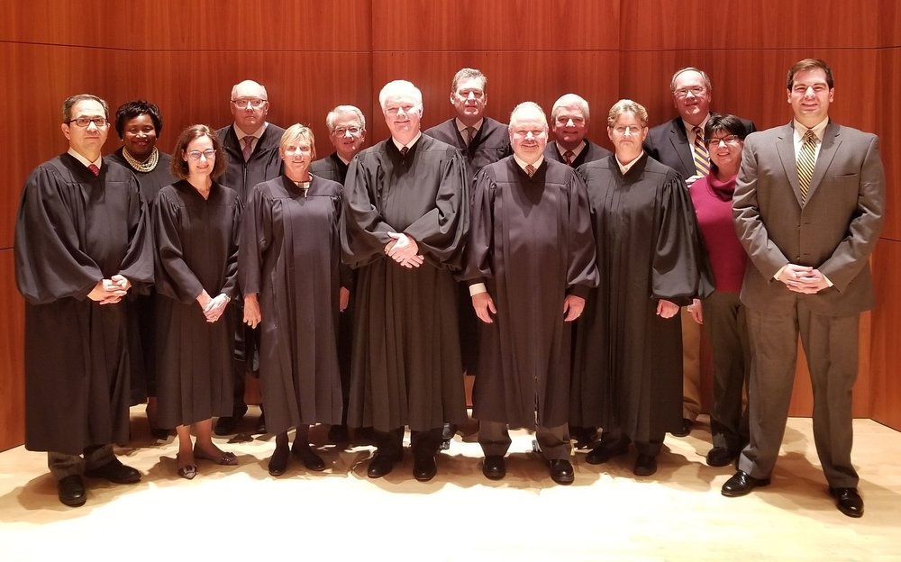 Thomas J. Snyder, Esq., far right, with the Justices of the N.Y.S. Appellate Division, Fourth Department.
