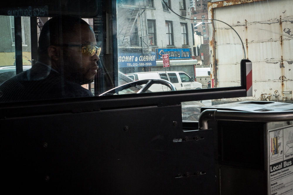 The Second Avenue Bus, 2017 by Raphael Shammaa, from $200