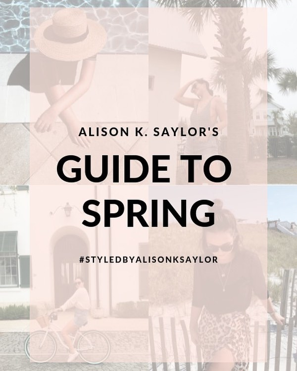 Got spring on my mind ✨ What about you? — if so, head to my bio to shop for your best spring wardrobe yet. 💘 #styledbyalisonksaylor
