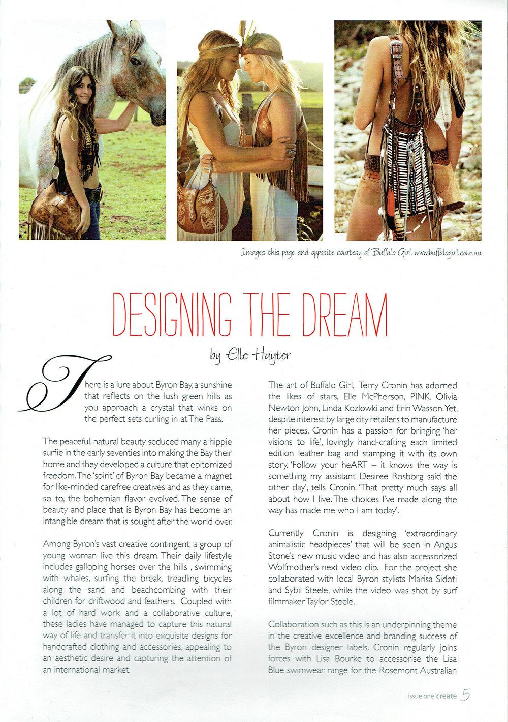 Designing the Dream! Original Article  here !