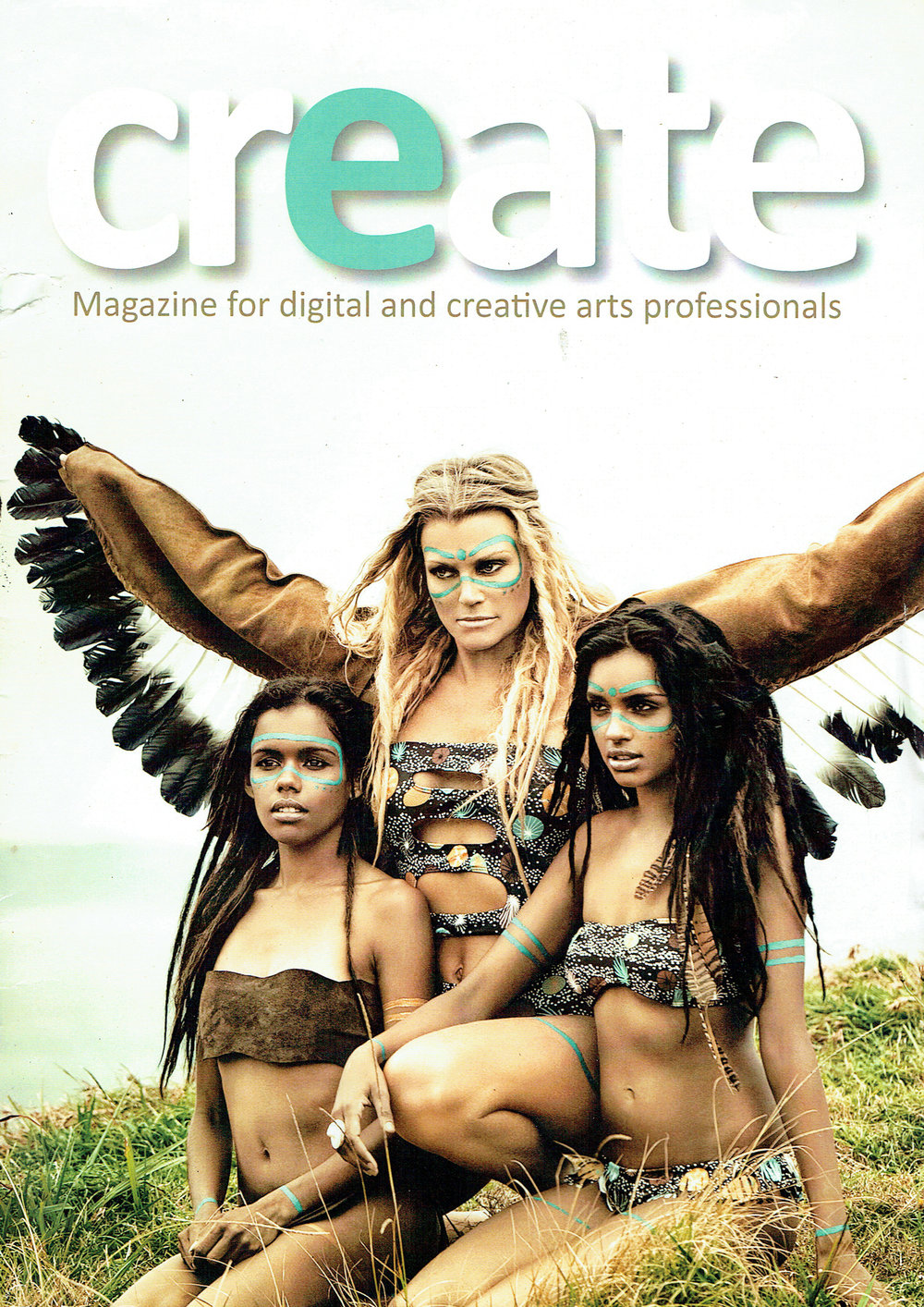 Buffalo Girl iconic Eagle Wings featured on Create Magazine Cover. See full article  here !