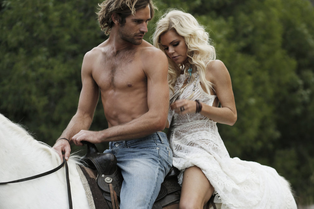 We had lots of fun getting these beautiful shots with  Sophie Monk ,  Callum Snell  ,  and  Lola Berry  featuring Buffalo Girl dresses and accessories. Special thanks to horse wrangler  The Ranch Byron Bay  & photographer  Connie Puntoriero !