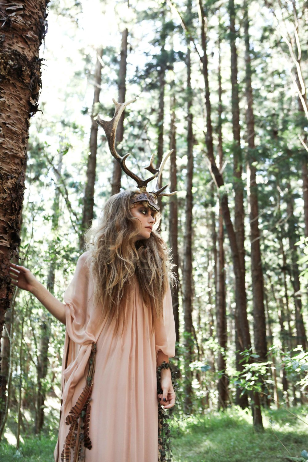 Buffalo Girl iconic deer antlers were made for Angus Stone's 'Monsters' music video. Click  here  to watch the original video!