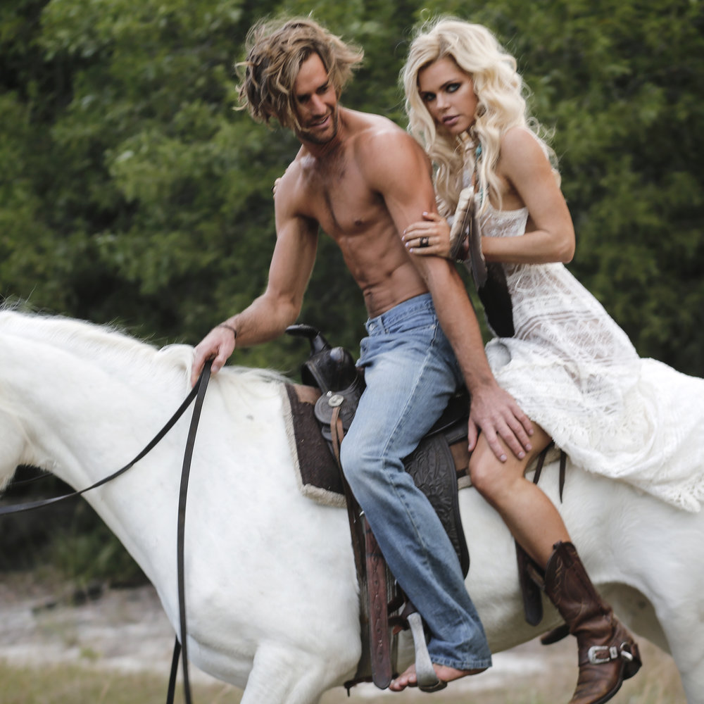 Models: Sophie Monk & Callum Snell | Photographer: Connie Puntoriero