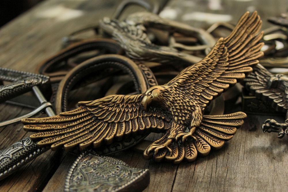 Custom designed brass Eagle Adornment