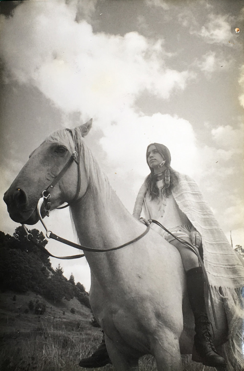 Young Terry on her horse in New Zealand.