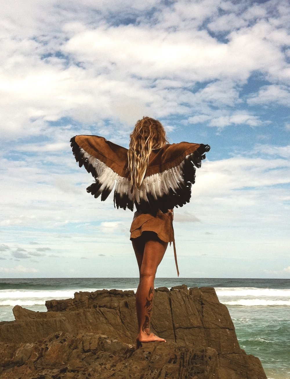 A shot from one of our most beautiful photoshoots. Romina Gardella, the Eagle Woman.