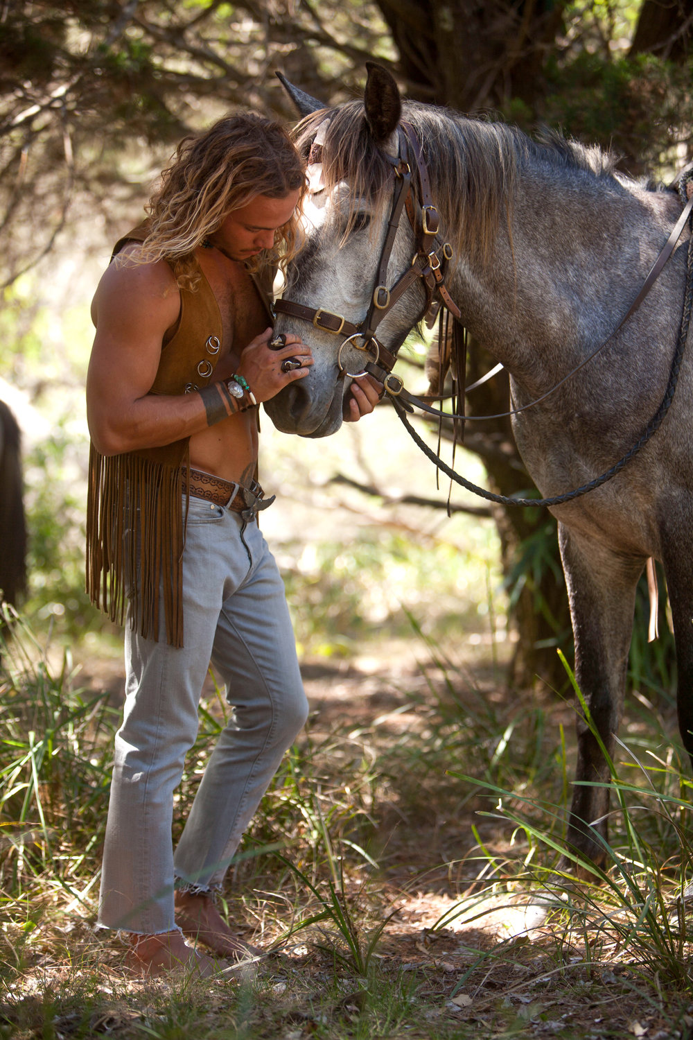 Buffalo Boy, young and wild, and free! Special thanks to the model  Marvin , our photographer  Romain , and horse wrangler  The Ranch Byron Bay .