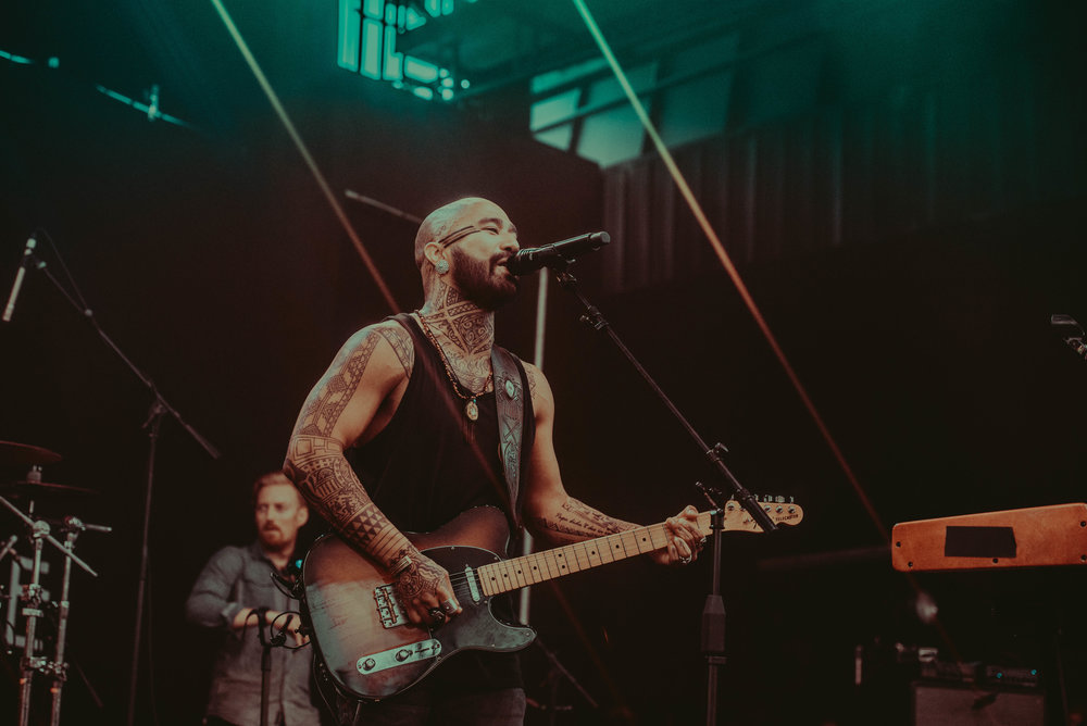 Shots by  Tessa Paisan  of  Nahko and Medicine for the People  in concert. Nahko is sporting his custom made Buffalo Girl guitar strap & leather ring <3 You can visit Tessa's Instagram  here !