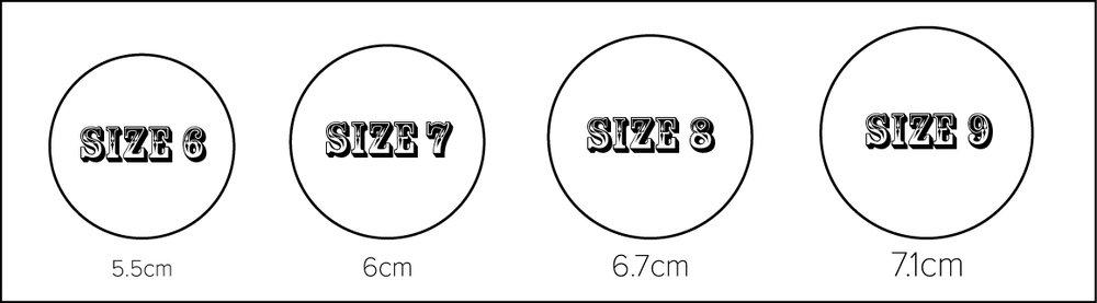Buffalo Girl Ring Size Guide Circumference