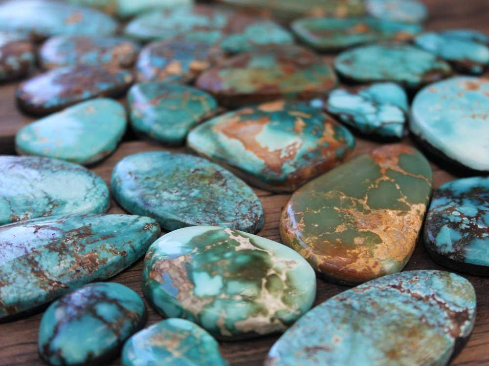 Our collection of Turquoise from Nevada's mines.